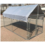 Large Metal 10x5x4' Chicken Coop Backyard Hen House Cage Run Outdoor Cage Cover