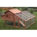 Deluxe Large Wood Chicken Coop Backyard Hen House 3-6 Chickens w nesting box Run