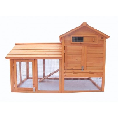 "58"" 2 Storey wood Hen Chicken Hutch Cage House Coop Cage Water Resistant w/ Run"
