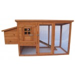 "New 62"" Wood Hen Chicken Duck poultry Hutch House Coop Cage w Run nesting box"