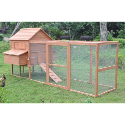 Large 12'ft Deluxe wooden Rabbit bunny Hutch Pet Run House Coop Wood Cage Suite