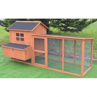 Omitree 7.2' Chicken Coop Running Cage Backyard Poultry Hen House Bantam Extra Large