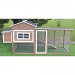 "Omitree Large 87"" Wood Chicken Coop Backyard Hen House 4-8 Chickens nesting box & Run"