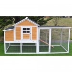 "Omitree Huge 91""' Chicken Coop Running Cage Backyard Poultry Hen House Bantam Large Wood"