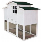 """ChickenCoopOutlet 59"""" Wood Chicken Coop Backyard Hen House 4 Nesting Box & Run New"""