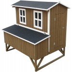 """47"""" Deluxe Solid Wood Hen Chicken Cage House Coop Huge w/Nesting Box New"""