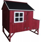 Omitree Deluxe Large Backyard Wood Chicken Coop Hen House 4-8 Chickens with 3 Nesting Box New