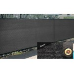 Black 6' x 50' Fence Windscreen Privacy Screen Shade Cover Mesh Cloth Outdoor