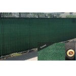 Green 6' x 50' Fence Windscreen Privacy Screen Shade Cover Mesh Cloth Outdoor