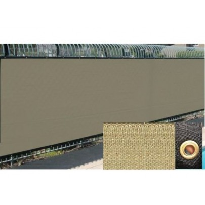 Tan 6 39 x 100 39 fence windscreen privacy screen shade cover for Cloth privacy screen