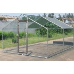 Large Metal 10x10 ft Chicken Coop Backyard Hen House Cage Run Outdoor Cage