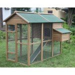 "Deluxe 79"" Wood Chicken Coop Backyard Hen Run House 3-5  Chicken Nesting box"