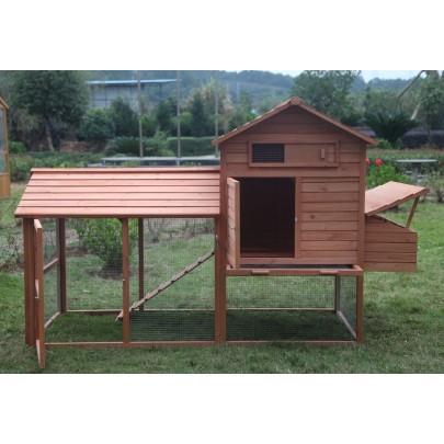 "Large 99"" Deluxe Solid wood Hen Chicken Cage House Coop Huge w/ Run nesting box"