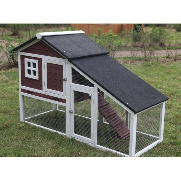 New 59 deluxe portable wood chicken coop hen house duck for Portable hen house
