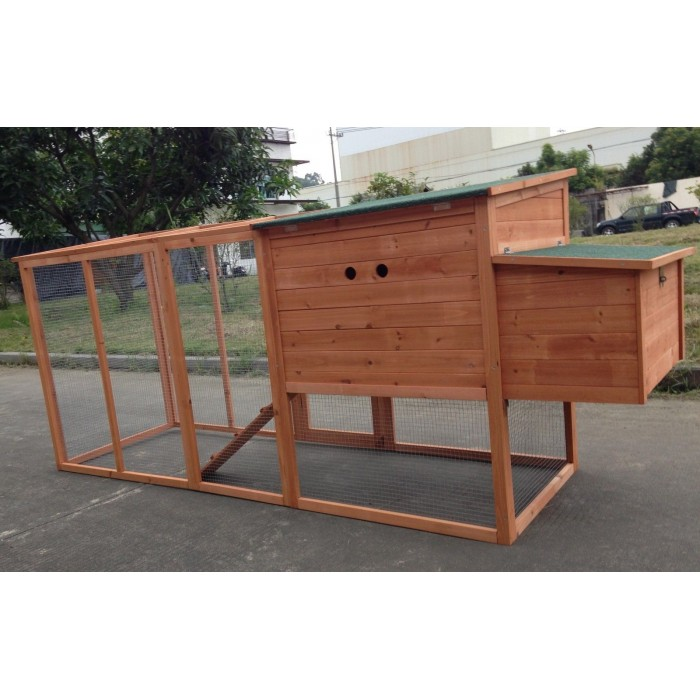 Large 95 Quot Deluxe Solid Wood Hen Chicken Cage House Coop