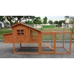 Deluxe Large Wood Chicken Coop Backyard Hen House 3-5 Chickens w nesting box Run PA031