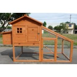 Deluxe Large Wood Chicken Coop Backyard Hen House 4-6 Chickens w nesting box Run PAH002