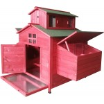 Omitree Deluxe Large Backyard Wood Chicken Coop Hen House 6-10 Chickens with 6 Nesting Box New